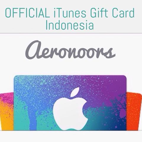 [OFFICIAL IGC] iTunes Gift Card Indonesia 100%LEGAL
