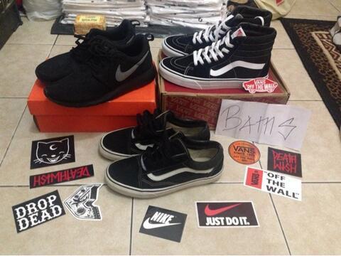 WTS : Vans SK8 Hi BW,Oldskool BW,Nike Rosherun/Roshe run Original.!!