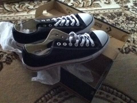 converse classic black & white size 43