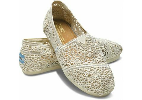 WTB Toms Shoes Crochet Lemon Original