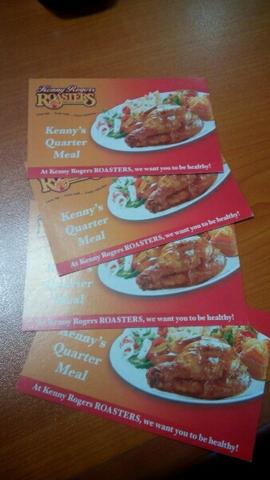 voucher makan besar Kenny Rogers Chicken 280rb!!