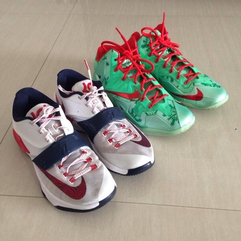 nike lebron 11 xmas and kevin durant kd 7 usa