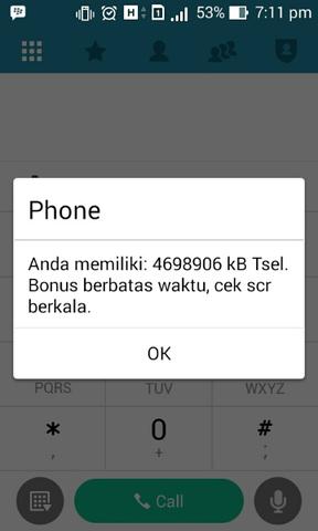 TELKOMSEL 4,5GB 1 BULAN