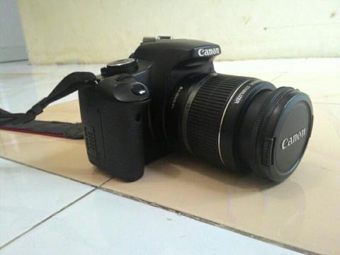 jual kamera canon eos 450 D + tas