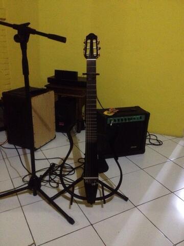 gitar akustik elektrik yamaha Silent Guitar acoustic electric ( SLG 110) nylon