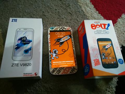 Jual hp bolt powerphone V9820 jaringan 4G!! murah!! ex cewe