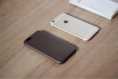 big sale 9b8e1 7498b Jual Apple iPhone 6 Leather Case - Olive Brown