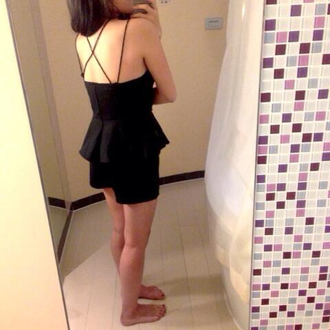 dress - sexy cut dress