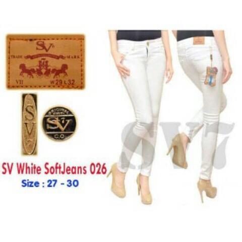 Celana Jeans Skinny/Highwaist Putih Murah Bandung