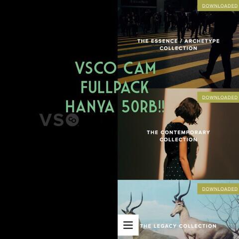 Aplikasi (Appstore, Playstore) murah, VSCO Cam Fullpack untuk iOS dan Android.