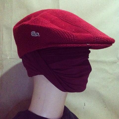 xareevx: Topi Pet Lacoste Solid Red Rare,Casual,Ori,COD Semarang