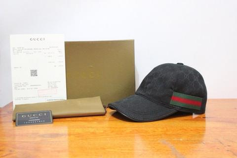 TOPI GUCCI BLACK AND BROWN MIRROR QUALITY 1:1