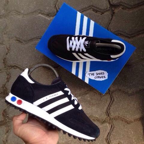ORIGINAL Adidas LA Trainer Black/White Solo Jogja Semarang