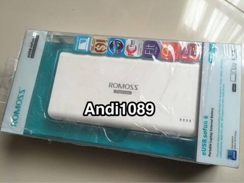 Powerbank Mac/Laptop Romoss 65W eUSB Sofun 6