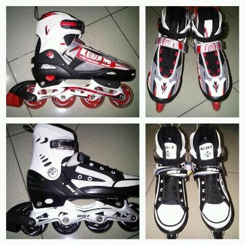 WTS inline skate   sepatu roda   rollerblade merk Super-K terbaru 3cc23b0e94
