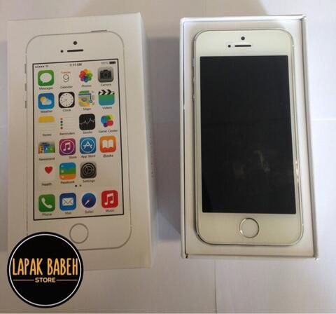 [Lapak BaBeh] iPhone 5S 32gb silver mulus gaaan