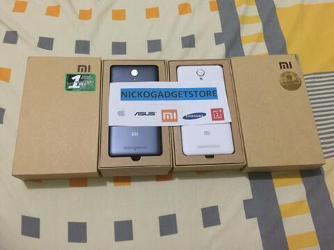 Xiaomi redmi note 2 dan note 2 prime white and grey 16 32 ram 2gb 2.2ghz full hd
