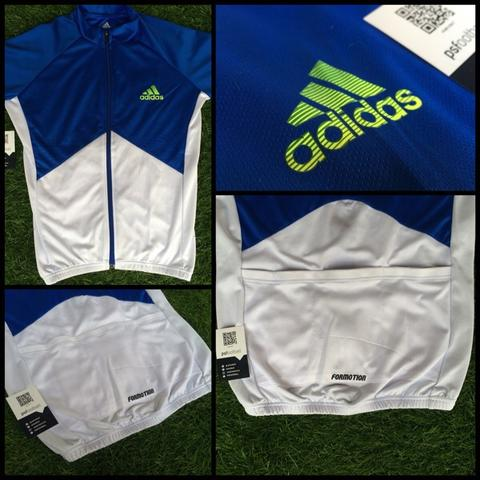 Terjual Adidas Response Short   Long Sleeve Cycling Jersey BLUEWHITE ... d7dcdbae8