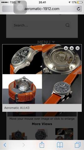 Jam Tangan Aeromatic (classic pilot watch)