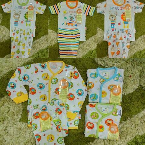 setelan piyama/baju tidur bayi velvet junior