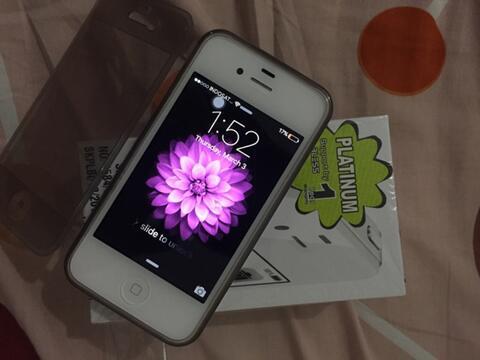 iPhone 4s 64GB FU White ex Cewek LIKE NEW