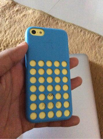 Apple Original iPhone 5c Case Black Blue Jogja