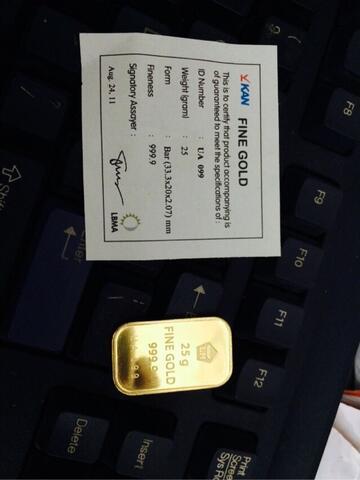 Terjual Logam Mulia Emas Batangan Antam Sertifikat Kan 25 Gram Kaskus