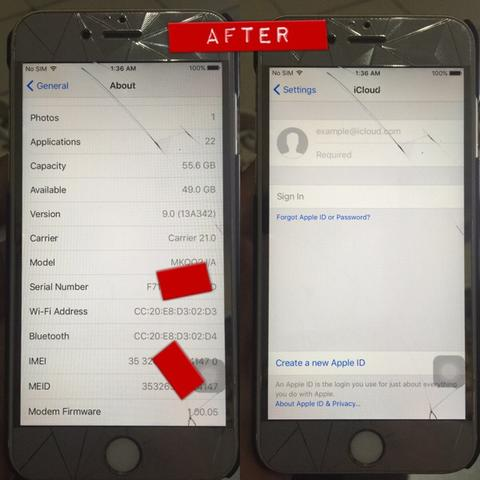 jasa remove/kick icloud fix sinyal dll lancar support semua ios dan iphone