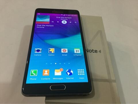 Samsung Note 4 4G+ 32gb Black Hitam murah bgt mulus Bandung Bdg