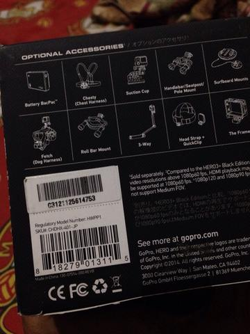 Gopro Hero 4 Black japan market + LCD Touch   bandung