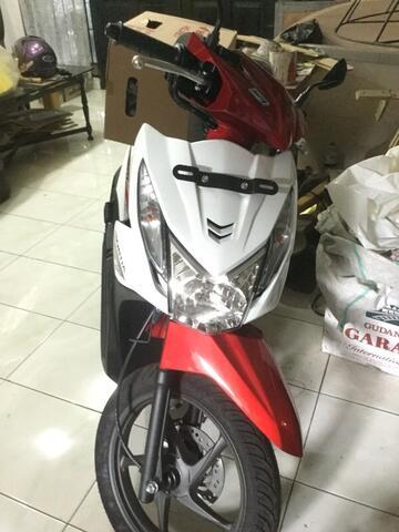 Jual Baru Honda BeAT eSP Putih Merah Hadiah dari Bank NISP