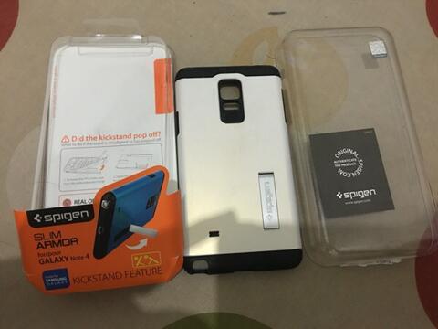Spigen Slim Armor Original Samsung Galaxy Note 4 Bandung