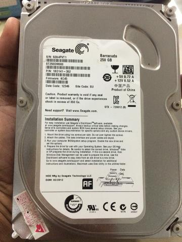 Harddisk / Hdd seagate barracuda 250gb SATA