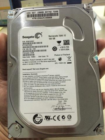 Harddisk / HDD Seagate barracuda 160gb SATA
