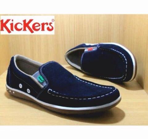 Terjual Sepatu casual pria kickers slip on suede leather rajut warna ... 499df43667