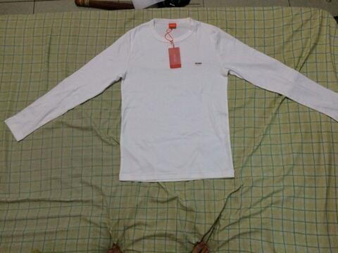 Long Shirt / Kaos Panjang Hugo Sport White ( sz L fit to S-L)