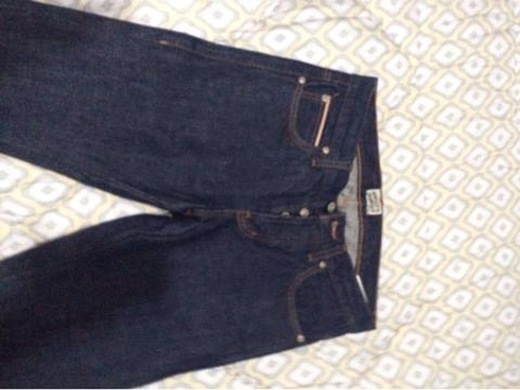 naked and famous denim size 30