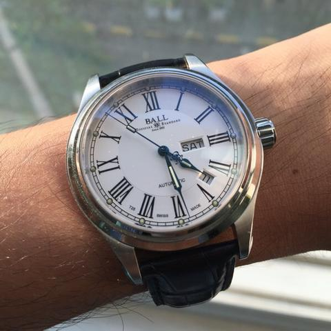 Ball Trainmaster Roman White Dial Automatic