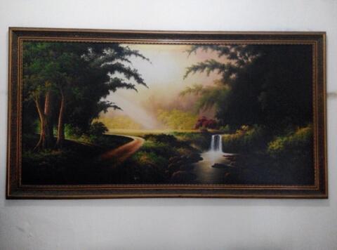 Lukisan Pemandangan ; cantik dan adem 1,5 m x 3,2 m
