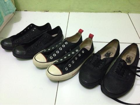 WTS, Converse all black dll size 39 second (jual iseng)
