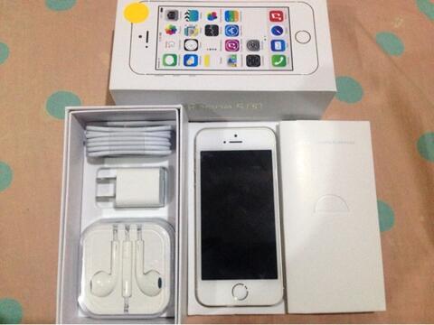 iPhone 5s gold 32gb Fullset Mulus 100% Ex Usa Cod surabaya