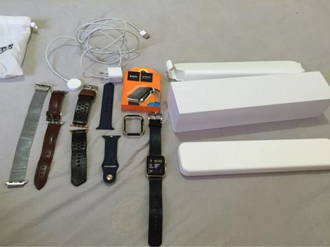 apple watch sport 42mm gold midniht blue banyak bonus