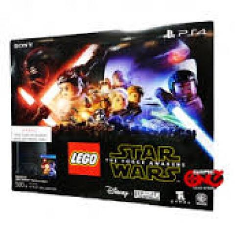 PLAYSTATION 4 500GB (JET BLACK) LEGO STAR WARS THE FORCE AWAKEN BUNDLE