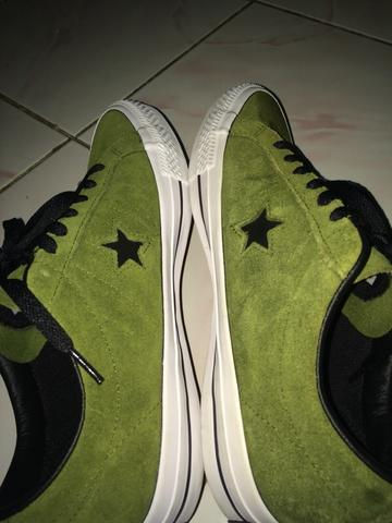 converse one star skate green