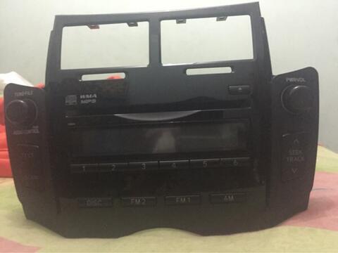 Head Unit yaris original+Frame original+speaker original