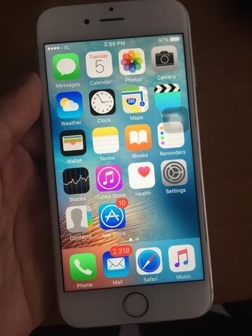 Jual iPhone 6S 128gb silver mulus fullset murah bgt grab it fast!!
