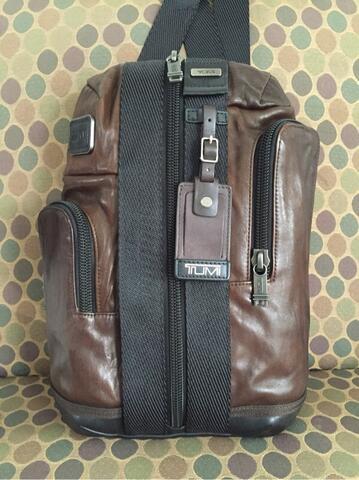 original tumi monterey leather sling bag