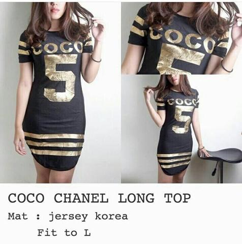 coco chanel long top