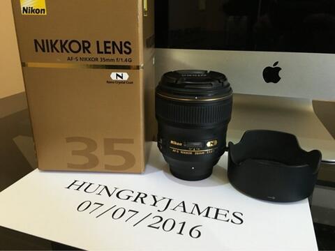 Nikon 35mm f1.4 Lensa