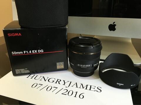 Sigma 50mm f1.4 (for Nikon) Lensa
